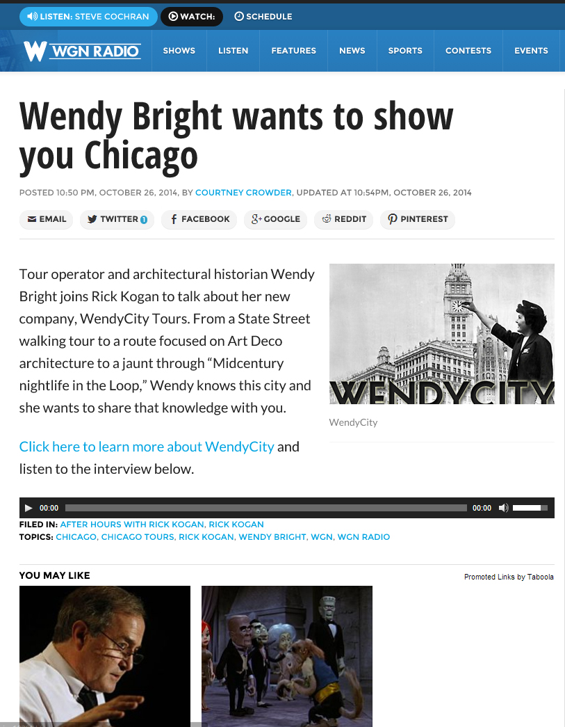 A Conversation with Rick Kogan about Chicago Tours   WendyCity