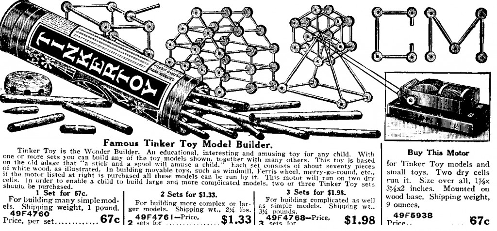 tinkertoys 1928 sears cat