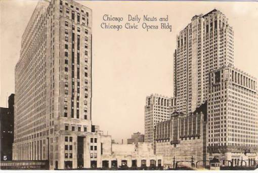 postcard-chicago-daily-news-building-civic-opera-sepia-nice